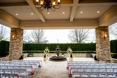 Couples love our picturesque outdoor ceremony space.