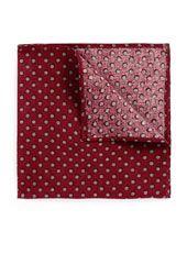 Dark Red Grey Spot Pocket Square