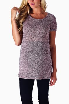 Pink-Heathered-Knit-Short-Sleeve-Maternity-Top
