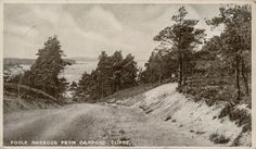 Postcard view a view down the lower part of Haven Road, Sandbanks looking toward Shore Road on a postcard used in August, 1911