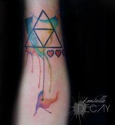 watercolor tattoo | WaterColor TriForce Tattoo by OriginalMagZi