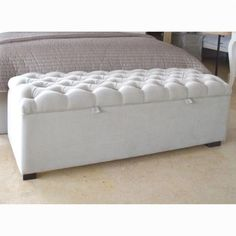 This blanket box would be an absolutely stunning addition to the end of any bed, particularly our very own Handmade in London Lockley Bed or Laurent Bed. With sumptuous deep buttoning on the lid, this item is simply gorgeous. End Of Bed Ottoman, Bedroom Ottoman, Box Bedroom, Bed End, Upholstered Beds, Bedroom Furniture, Bedroom Decor, Blanket Storage, Blanket Box