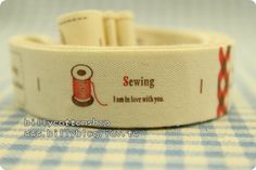 V130 - cotton tape/ sewing tape/ Ribbon - cotton - happy sewing  *** [FREE SHIPPING NOW!!!]   https://www.etsy.com/listing/84535937/v130-cotton-tape-sewing-tape-ribbon?ref=shop_home_active