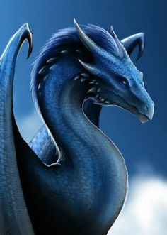 Saphira the blue dragon