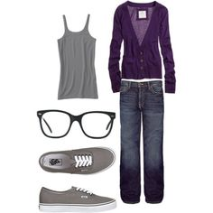 love the gray and purple!