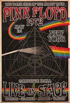 Pink Floyd Dark Side, Poster Shop, Poster Wall, Poster Prints, Poster Poster, Art Print, Poster Sizes, Giclee Print, Carnegie Hall