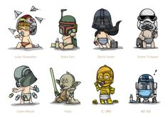 STAR WARS : 1000DAY by 1000DAY , via Behance