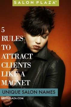 Wondering how to choose a unique salon name that'll attract clients like a magnet? Read more... blog.SalonPlaza.com