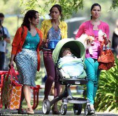on set of new Marc Cherry drama 'Devious Maids'.  Looks like fun! Also starring Ana Ortiz