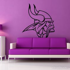 Viking Warrior Wall Decal Vinyl Decal Car Decal DC - Custom vinyl decals minnesota