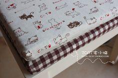 【宅小猫】小小猫 可拆洗棉麻布艺海绵坐垫/椅子垫/餐椅垫/含芯 / ¥35.00