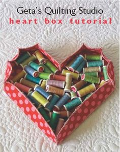 How to Make a Heart Shaped Fabric Box