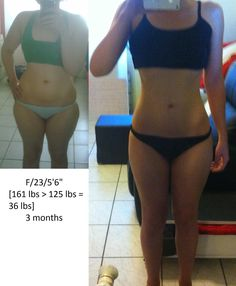 """F/23/5'6"""" [161lbs > 125lbs = 36lbs] (3 months) Thank you everyone for giving me motivation. - Imgur"""
