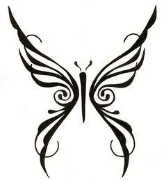 original design tribal butterfly tattoo. ginaleecincotta@gmail.com