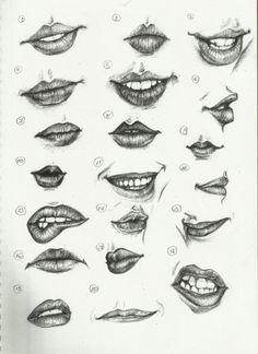 Delineate Your Lips - Ctrl Paint- Draw Lips by on deviantART - How to draw lips correctly? The first thing to keep in mind is the shape of your lips: if they are thin or thick and if you have the M (or heart) pronounced or barely suggested. Sketches, Drawing People, Sketch Book, Art Drawings, Drawings, Art, Draw, Lips Drawing, Art Tutorials
