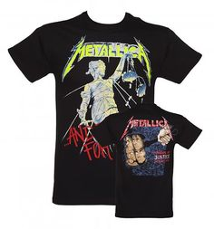 Men's Black And Justice For All Back And Front Print #Metallica T-Shirt xoxo
