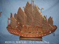 Foto de Modelo de navio de madeira --Barco do tesouro de Zhenghe (WB29519) em…