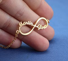 Infinity Symbol Name Bracelet - Name Bracelet - Perfect Gifts by LavenderJewelryStore on Etsy https://www.etsy.com/listing/209977038/infinity-symbol-name-bracelet-name