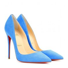 Christian Louboutin So Kate Suede Pumps (14 610 UAH) ❤ liked on Polyvore featuring shoes, pumps, heels, louboutin, blue, christian louboutin, suede pumps, blue pumps, blue heel pumps and suede leather shoes