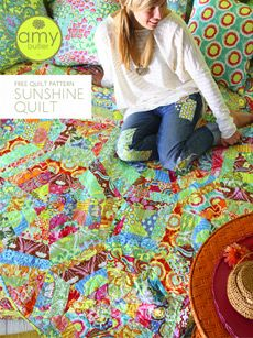 Sunshine Quilt by Amy Butler - free pattern @ Cabbage Rose Patchwork Patterns, Quilt Patterns Free, Free Pattern, Sewing Patterns, Quilting Tutorials, Quilting Projects, Sewing Projects, Quilting Ideas, Craft Projects