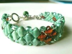 Check out this item in my Etsy shop https://www.etsy.com/listing/473358960/bead-cuff-bead-bracelet-green-bead