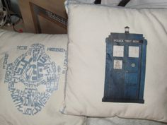 Dr Who cushions Ali Bee Creations