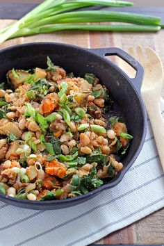 Hearty Yam and White Bean Hash