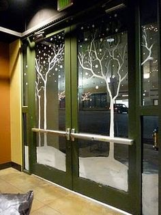 window dressing -- window paint and stencils