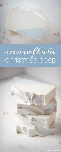 Snowflake Christmas Soap