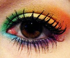 Another Eye-Makeup #Rainbow #Wedding