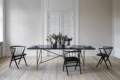 Dining Table 230 at the HANDVÄRK Showroom in the heart of Copenhagen. Styled with Sibast chairs and HANDVÄRK Turnery on the table.