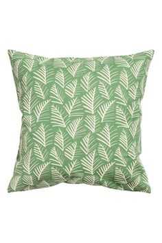Чехол на подушку с рисунком - Зеленый/Листья - HOME | H&M RU 1