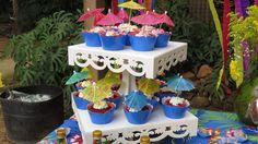 Cupcakes - Festa Tropical - Rafael e Maria Eduarda 2016 (Foto: @amandarut_ )