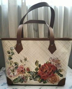 Tote bag with decoupage