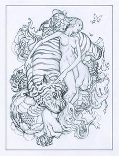 From James Jean Work in progress.Sketch for a larger work.