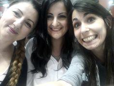 Sara di Lindau con Valentina di peekabook.it e Maria di scratchbook.net :) #selfie