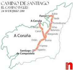 El camino de Santiago, Camino Ingles