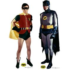 It's the Dynamic Duo from the Classic 1966 TV Series, ready to protect the good citizens of Gotham City. Display cardboard standups of Adam West as Batman and Burt Ward as Robin for your next superher