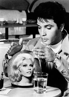 Elvis Presley and Nancy Sinatra in 'Speedway', 1968. S)