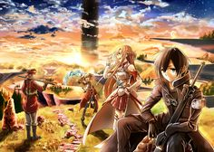 Sword Art Online Think .Hack but for everyone in the game. The only way out is to win.