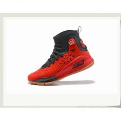 eceb73c44d19 Under Armour Curry 4 Hight 1298306-603 Black RED Basketball