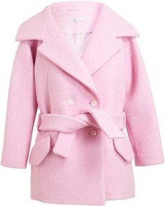 Oversized pink coat.