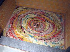 Mosaics in the bathroom by mosaic artist Cynthia Fisher - B I G B A N G M O S A I C S