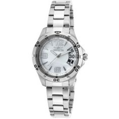 Invicta 21371 Women's Specialty Stainless Steel White Mop Dial Stainless Steel Watch