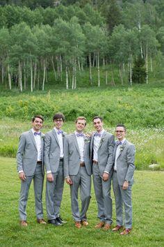 Groomsmen wiith Bowties - Mountain Elegance in Beaver Creek