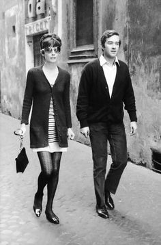 Audrey Hepburn and husband Dr. Andrea Dotti photographed in downtown Rome, August 1970.