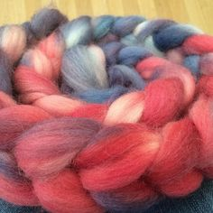 A bit of red white & blue - perrendale lambs wool hand dyed this will be in my next Etsy update this evening