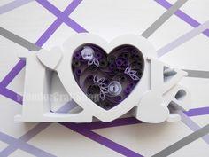 love of my life love heart wedding anniversary by WonderCraftShop