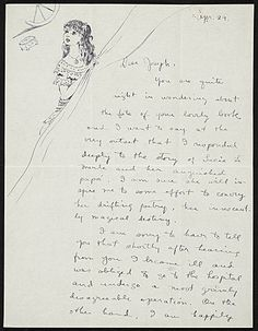 Citation: Dorothea Tanning to Joseph Cornell, Apr. 29, 1947 . Joseph Cornell papers, Archives of American Art, Smithsonian Institution.