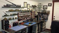 Organized hobby desk.